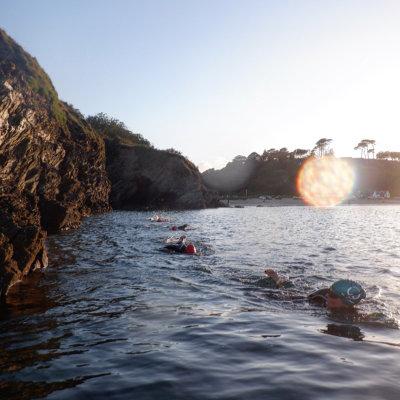 Swanpool beach swim with sureswim kernow