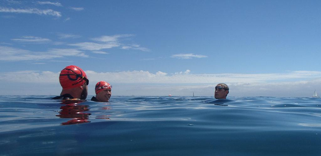 Bluewtaer swimming Cornwall